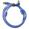 USB 2.0 A-B Blue Angled 1m