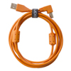 UDG USB 2.0 A-B Orange Angled 1m