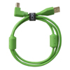 USB 2.0 A-B Green Angled 1m