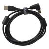 USB 2.0 A-B Black Angled 1m