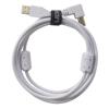 USB 2.0 A-B White Angled 1m