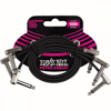Ernie Ball EB-6222 Flat Patch Cable 30 cm 3-pack