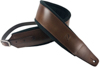 Profile FPB02 Pro Italian Leather Guitar Strap Dark Tan