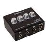 HAP-4 Black Headphone amplifier 4 channel