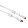 HAMA Antenna Cable 100dB White 1.5m