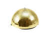Eurolite Half Mirror Ball 30cm gold motorized