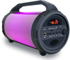 4' Portable Speaker With RGB LED LIGHT, USB, BT AND WIRED MIC