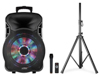 Party Light & Sound 600W PORTABLE SPEAKER WITH LED EFFECT AND WIRELESS MICROPHONE