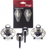 Stagg Strap Buttons & Locks chrome