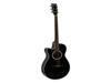 Dimavery AW-400 Western guitar LH, black