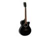 Dimavery AW-400 Western guitar, black