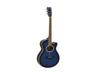 Dimavery AW-400 Western guitar, blueburst