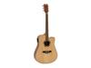 Dimavery JK-500 Western guitar, Cutaway, nature