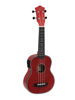 UK-100 Soprano ukulele, flamed red