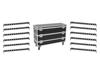 Set 12x LED BAR-12 QCL RGBW Bar + Case L