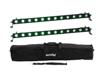 Set 2x LED BAR-12 QCL RGB+UV Bar + Soft-Bag