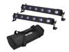 Set 2x LED BAR-6 QCL RGB+UV Bar + Soft-Bag