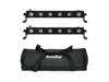 Set 2x LED BAR-6 QCL RGBW + Soft Bag