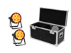 Set 2x LED IP PAR 14x10W HCL + Case