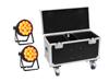 Set 2x LED IP PAR 14x10W HCL + Case with wheels
