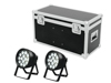 Set 2x LED IP PAR 14x8W QCL + Case