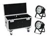 Set 2x LED IP PAR 14x8W QCL + Case with wheels