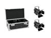 Set 2x LED THA-40PC bk + Case