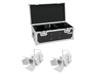 Set 2x LED THA-40PC wh + Case