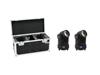 Set 2x LED TMH-X1 Moving-Head Beam + Case