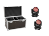 Set 2x LED TMH-X4 Moving-Head Wash Zoom + Case