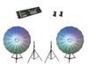 Eurolite Set 2x LED Umbrella 140 + DMX LED Color Chief + 2x BS-2 EU stand