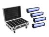Set 4x AKKU Bar-6 Glow QCL + Case with charging function