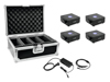 Eurolite Set 4x AKKU Flat Light 1 black + Case + Charger