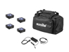Eurolite Set 4x AKKU Flat Light 3 bk + Charger + Soft-Bag