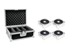 Eurolite Set 4x AKKU IP Flat Light 1 chrome + Case
