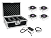 Eurolite Set 4x AKKU IP Flat Light 1 chrome + Case + Charger