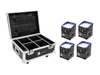 Eurolite Set 4x AKKU IP UP-4 QCL Spot QuickDMX + Case with charging function