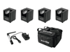 Eurolite Set 4x AKKU UP-1 + SB-4 Soft-Bag + QuickDMX Wireless transmitter
