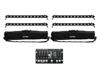Set 4x LED BAR-12 QCL RGBW + 2x Soft Bags + Controller