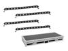 Set 4x LED BAR-12 QCL RGBW Bar + Case
