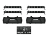 Eurolite Set 4x LED BAR-6 QCL RGBW + 2x Soft Bag + Controller