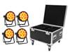 Set 4x LED IP PAR 14x10W HCL + Case