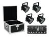 Set 4x LED PAR-56 HCL bk + Case + Controller