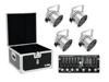 Set 4x LED PAR-56 HCL sil + Case + Controller