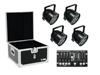 Set 4x LED PAR-56 QCL bk + Case + Controller