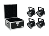 Eurolite Set 4x LED PAR-56 QCL Short sw + EPS Case