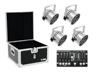Set 4x LED PAR-56 QCL sil + Case + Controller