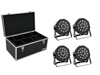 Eurolite Set 4x LED SLS-180 RGB 18x1W Floor + Case TDV-1