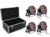 Eurolite Set 4x LED SLS-7 HCL Floor + Case TDV-1