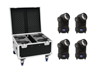 Set 4x LED TMH-X1 Moving-Head Beam + Case